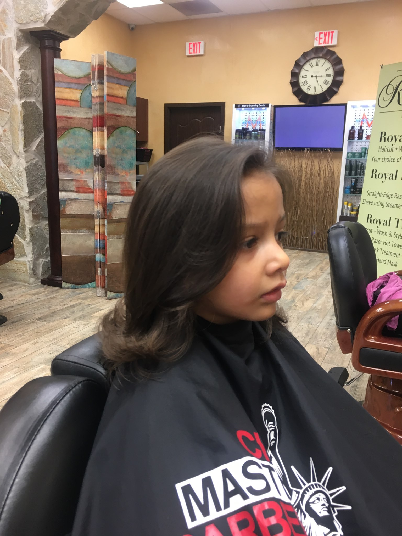 Young Girl Haircut Under 10 City Master Barbers